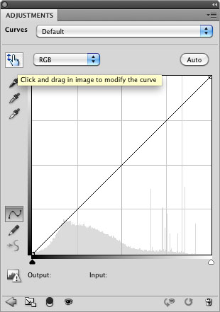 the first is to use the 'hand' icon on the photoshop curve dialog