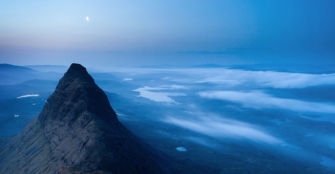 Alex Nail, top of Suilven