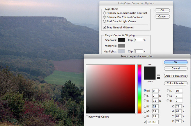 Inverting Colour Negatives in Photoshop 9