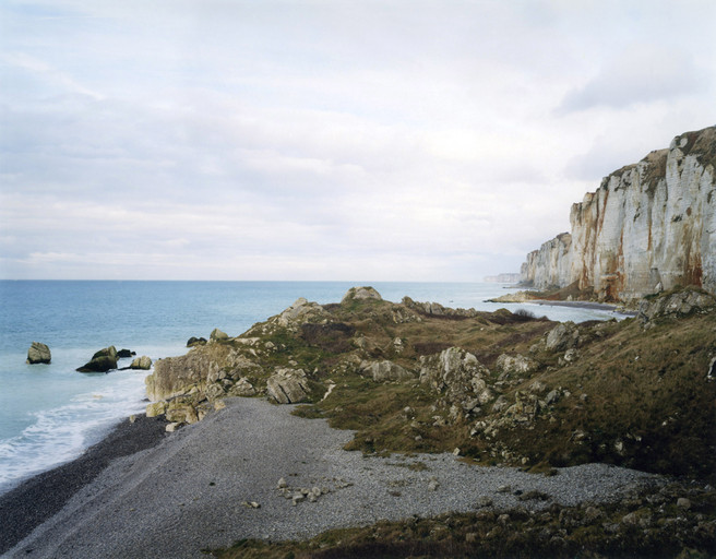 Senneville-sur-Fecamp (looking north) 2007 from the series 'Rockfalls, Normandy'
