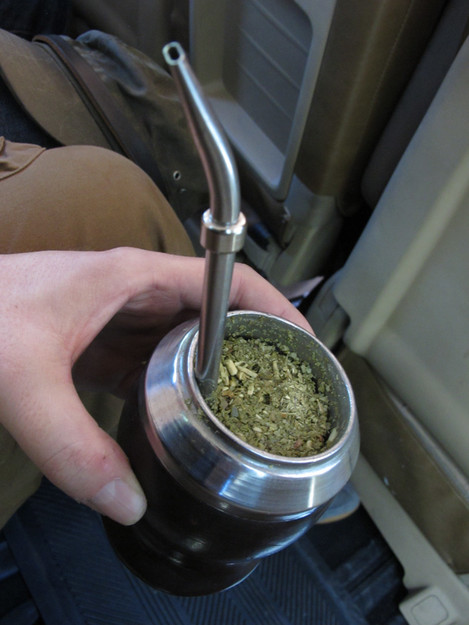 This is mate! its a herbal drink like green tea...! They are bonkers for it over here....
