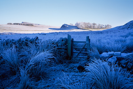 One of the first trips out with the Fuji, I had driven to Hadrian's Wall near Housteads to photograph frosted grasses following a very heavy overnight frost. It was very cold and the frost was perfect, though the sky was a featureless blue. After I saw the developed film, I saw the extent of the blue cast this created, which conveyed the cold of the day.