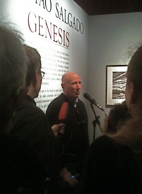 1. Snapshot of Salgado at the Genesis Media Preview, NHM, London, Tuesday 9 April, 2013 (K.Edge)