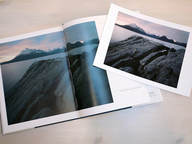 A sample spread from Paul's 1980s book, Scotland A Place of Visions, for which he had very limited control over the colour management and printing.