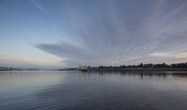 Mouth of the Hamble in Warsash, pre dawn