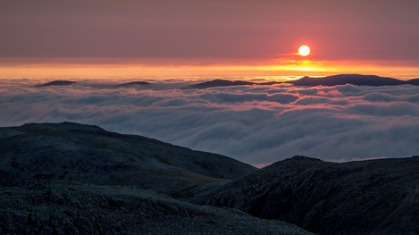 Sunrise from Scafell Pike