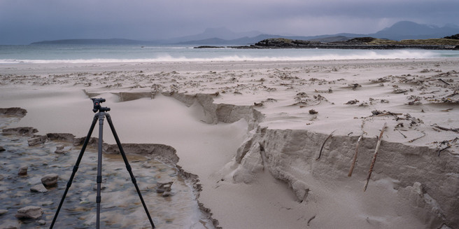 My last photograph, ironically taking a picture of Mel Foster taking a picture of some sand patterns.