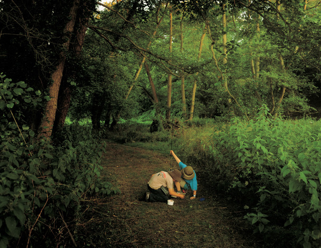 Image 6. Caption: The idyllic innocence of youth: Path on the big bend, River Wey, Surrey. Harry Cory Wright
