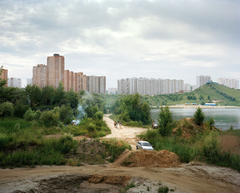 Image 10. Caption: We have a strong desire to commune with nature. But here we can't escape the city. Alexander Gronsky Pastoral 2008 - 2012