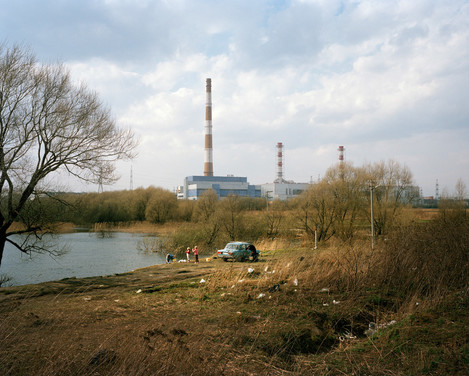 image 12. Caption: A pastoral irony. There is no escape. The city edgelands are industrialise and littered. Alexander Gronsky Pastoral 2008 - 2012