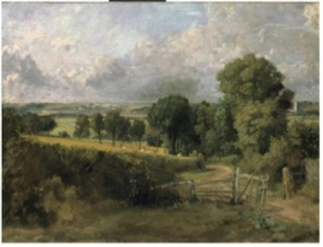 Image 5. Caption: Fen Lane, East Bergholt, c1817. John Constable. The artist's nostalgia – the view is of the lane Constable walked along to get to school at Dedham as a boy. The church tower is not in reality visible from this exact viewpoint.