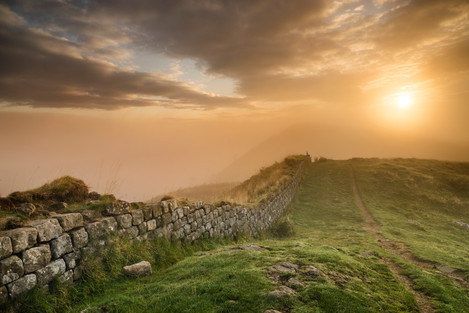 Hadrian's Wall - A Misty Morning 07-09-2014