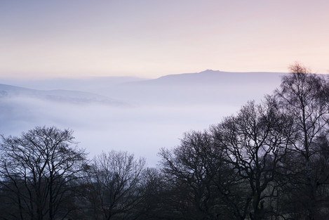 A superb autumn morning in Wharfedale, on the 24/11/12, looking across the valley to Simon's Seat. I had to ascend to my viewpoint above Burnsall by torch light, to capture the scene as dawn broke.The subtletes of autumn enhanced a beautiful Yorkshire scene.