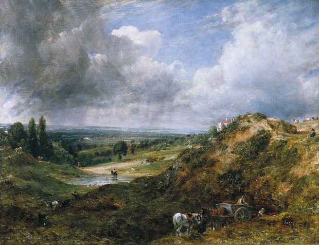 Constable - Hampstead Heath: Branch Hill Pond by John Constable, oil on canvas, 1828