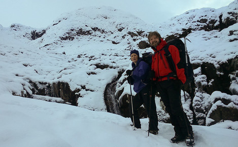On the way up to Coire nan Lochan