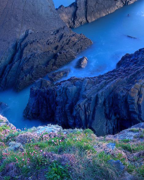 Hartland Quay Headland late afterglow