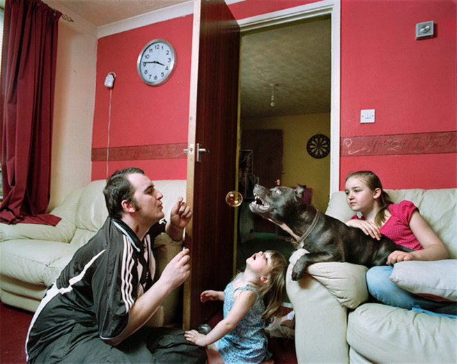 David with daughters Kadie and Robyn and Ty-dog, 2008