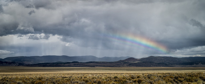 Beams and Rainbow, Near Benton, Nevada
