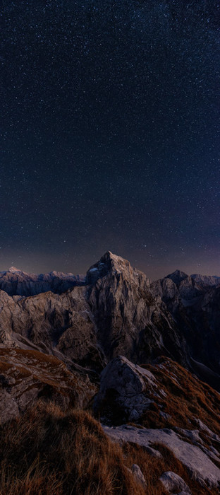 Night in Julian Alps, Mt Jalovec, Slovenia