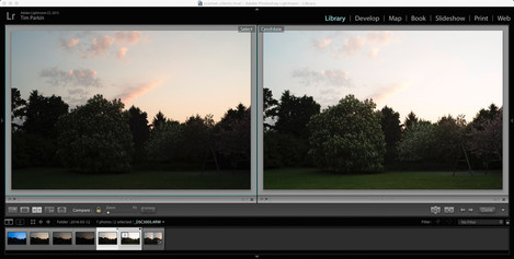 Unadjusted Images (+1 on left +2 on right)