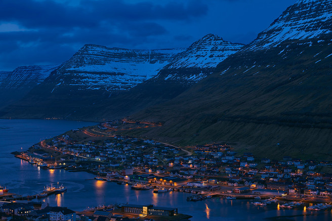 Klaksvík, city of the Northern Islands. It's the second largest town in the Faroe Islands.