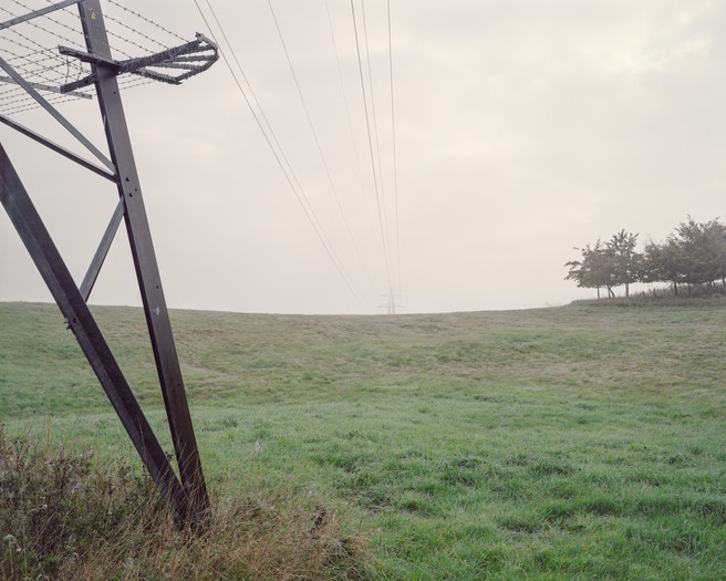 Electricity Pylon and Trees, Lydiard Tregoze, Swindon 2015