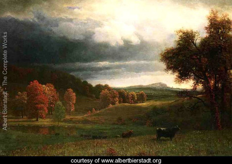 Albert Bierstadt, Autumn landscape – the Catskills.