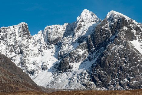 Alistair Young - Sgurr Alasdair, highest of the Cuillin mountains on the Isle of Skye.