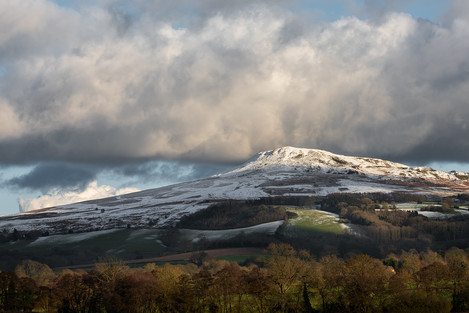 Kate Maxwell - Titterstone Clee receiving a dollop of snow