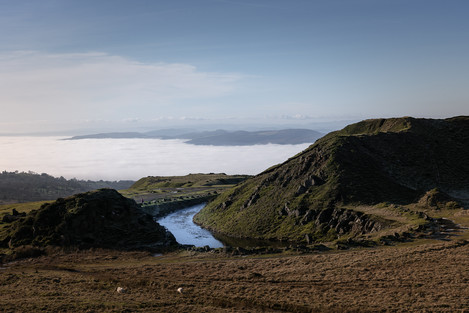 Kate Maxwell - Above the clouds: cloud inversions are a local feature, here viewed from the abandoned stone quarry at the summit.