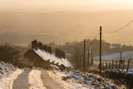 Kate Maxwell Dhustone village: terraced housing, unusual for rural areas, built in the 19th century for quarry workers.