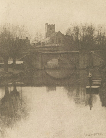 Peter Henry Emerson - Broxbourne Church, an illustration from an edition of Izaac Walton's The Compleat Angler, 1888