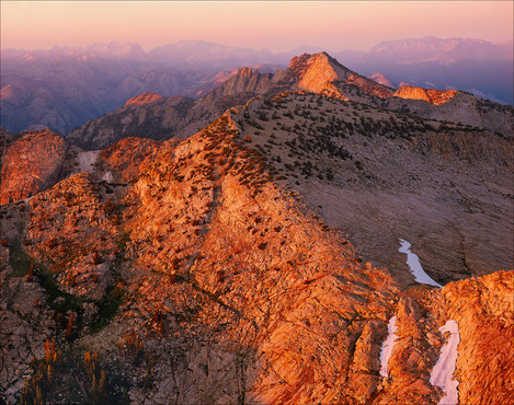 William Neill - Sunset from the summit of Mt Hoffmann, Yosemite National Park, California 1986