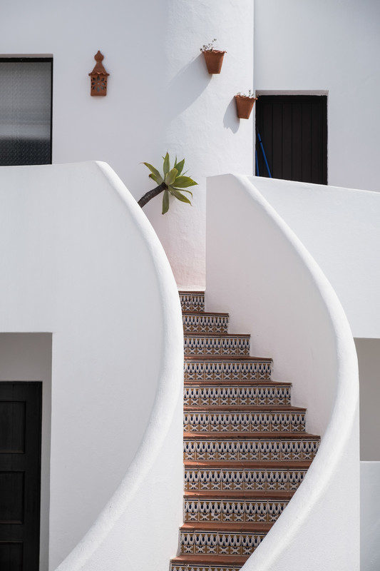Stairs: This is a design shot intended solely to produce a beautiful image.