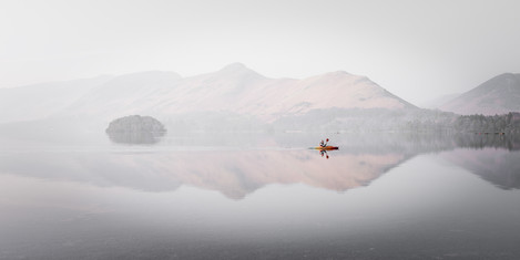 Tranquillity. The intention was to produce an attractive image capturing the tranquillity of the lake.