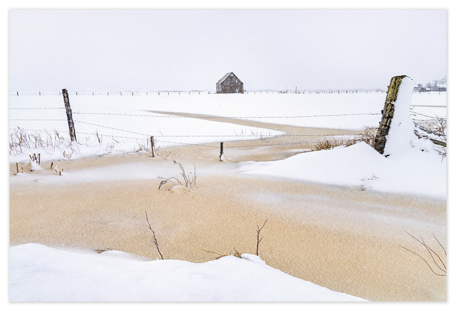 <strong>On the Way Ou<strong> It is my memorial to a beautiful old hay barn that, a year after I made this photograph, toppled over during a winter storm.