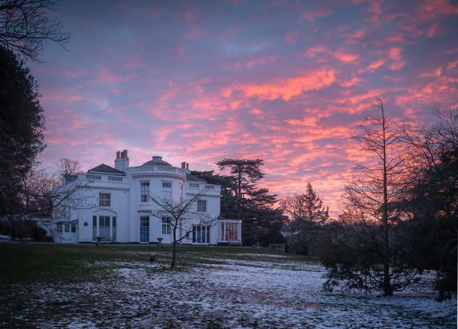 Winter Dawn, The White House, Norwood Grove